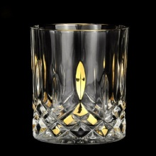 22K real gold imports Italy Gauss crystal glass whisky liquor cup liqueur wine beer