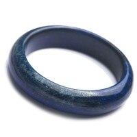 Из натуральной глубокий синий Лазурит камни камень Для женщин леди Модные браслеты внутри Диаметр 53 мм