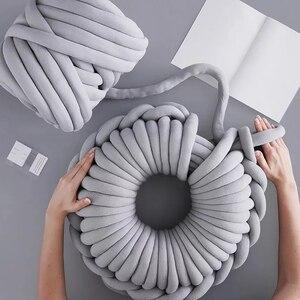 Image 2 - Manta tejida a mano para el hogar, hilo de núcleo redondo, hilo grueso, bricolaje, antifrío, 24 m