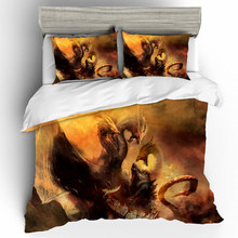 Prajna Godzilla 3D Bedding Sets Home Textile Duvet Cover Single Queen King Size Set Bed Sheets Pillowcases Linen