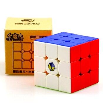 цена на Yuxin Little Magic 3x3x3 Cube Professional 3x3 Stickerless Speed Cubes Puzzle Educational Toys Gift Cubo Magico