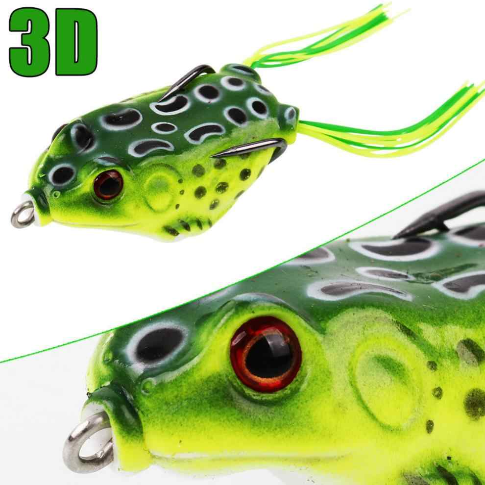 5 pz/lotto Richiamo Morbido di Rana Del Silicone 3D Occhi 12g di Richiamo di Pesca Swimbait Wobblers Esche Artificiali Gancio con Attrezzatura Da Pesca box