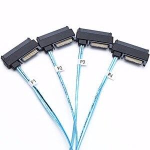 Image 5 - Sas sata ケーブル SFF 8643 内部ミニ SAS hd (4) 29pin SFF 8482 コネクタ sas 15pin 電源ポート 12 ギガバイト/秒ケーブル