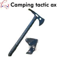 キャンプ戦術斧7クローム17モリブデンステンレス鋼斧屋外のキャンプ多機能機器 -