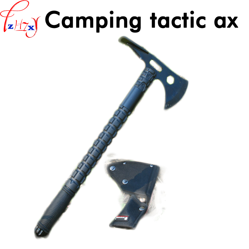 Camping tactical axe 7 chrome 17 molybdenum stainless steel axe outdoor camping multi-function equipment outdoor multifunction camping tools axe aluminum folding tomahawk axe fire fighting rescue survival hatchet