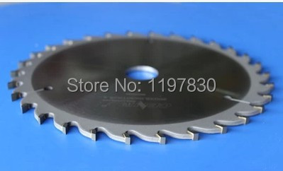 Free shipping of good quality 125x6.0mmx35/20mmx24T TCT scoring blade for hard wood/plastic/Aluminum/soft metal profile scoring