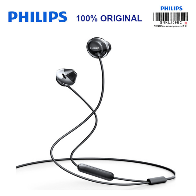 Philips SHE4205 auriculares con micrófono, auriculares internos con Control por cable y cancelación de ruido para Galaxy 8, pruebas oficiales