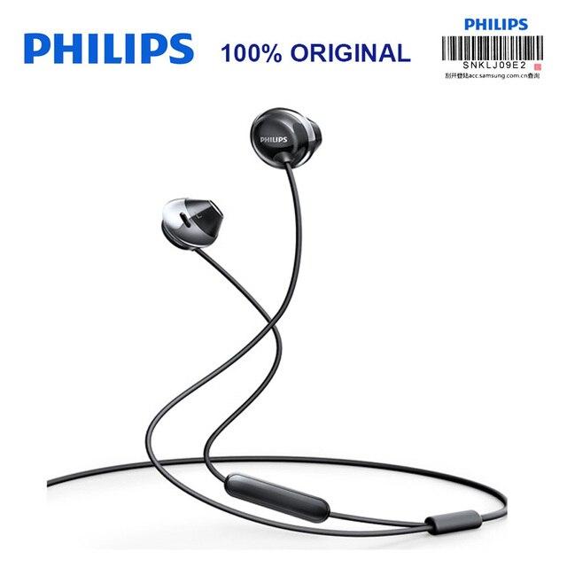 פיליפס SHE4205 אוזניות בס עם מיקרופון חוט שליטה ב אוזניות רעש ביטול אוזניות עבור גלקסי 8 בדיקה רשמיות