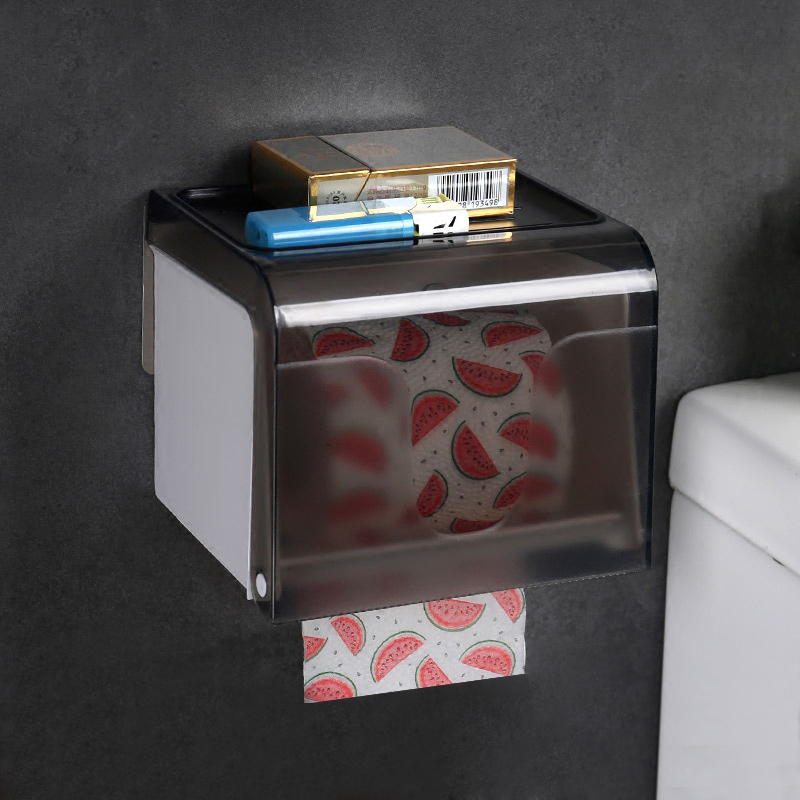 Toilet Paper Holder Plastic Waterproof Toilet Roll Holder Box Free punch Creative Paper Towel Box SQ-5112B