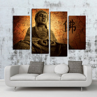 Series hd print quadruple religious Chinese figure of Buddha paintings
