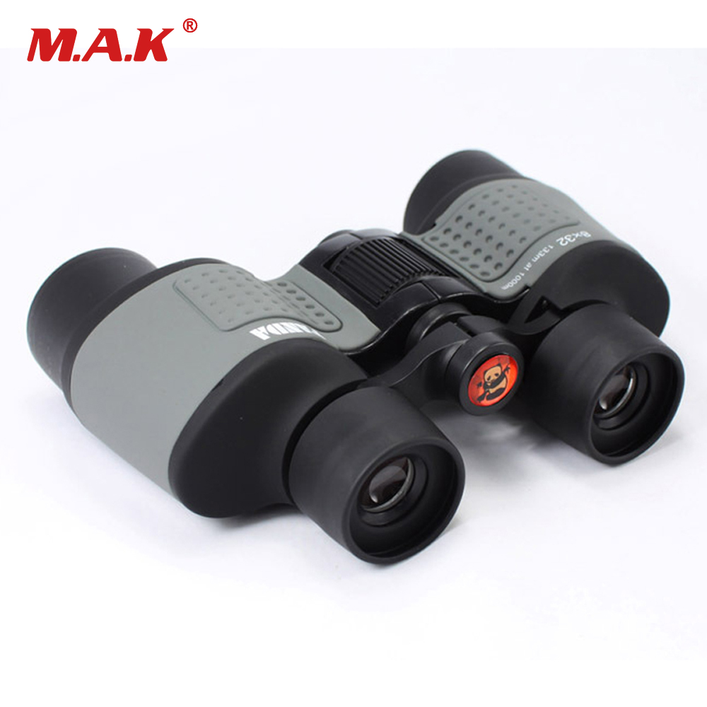 8X32 Binoculars Telescope Microlight Night Vision High Power HD Binoculars Pocket Paul Looks Telescope for Hunting цена
