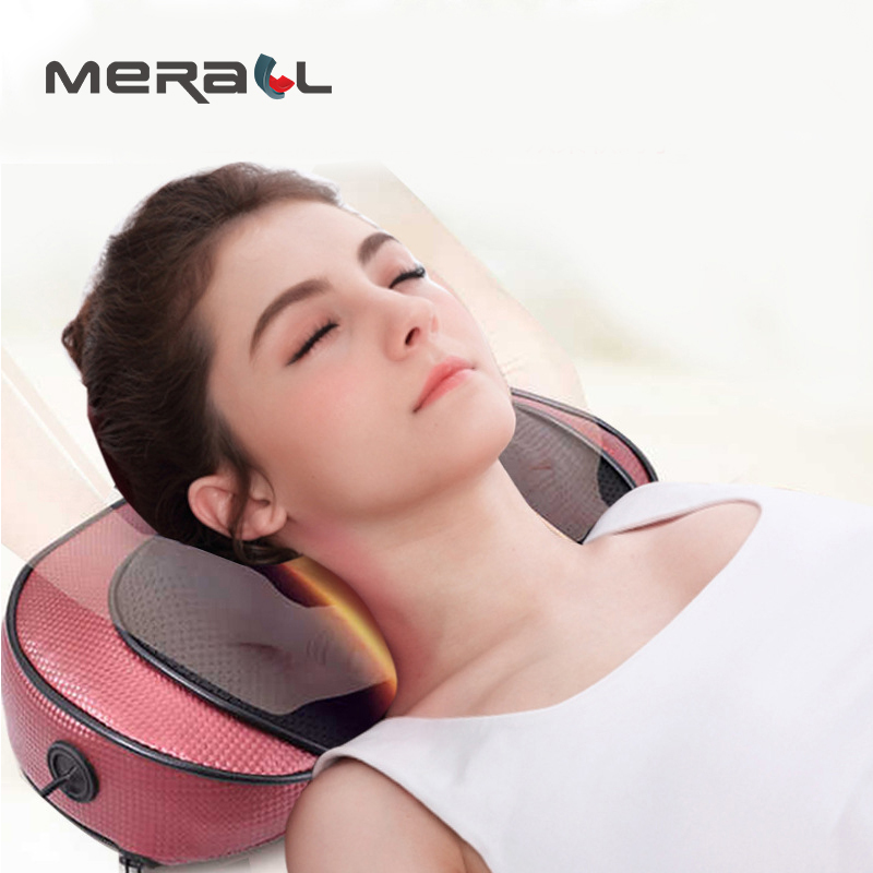 Neck Massager Pillow Charge Cushion Cervical Vertebra Multi-Function Home Relieve Body Pain Health Care Relaxation Stress Tool silicone massager pat floating point hand stick full body regimen portable relieve fatigue relaxation health care tool therapy