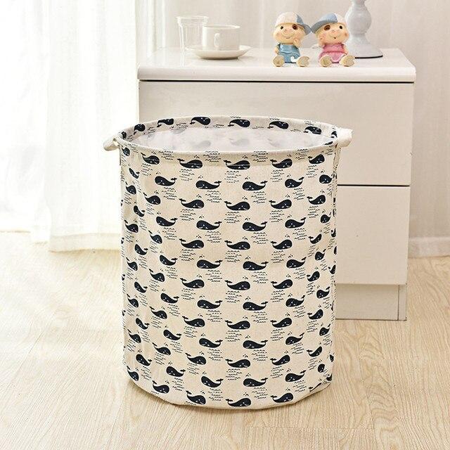 40 35cm Waterproof Canvas Sheets Laundry Clothes Basket Storage Folding Box Nov27