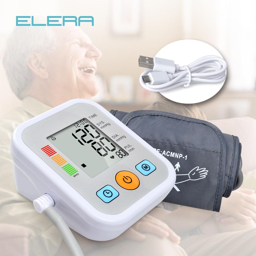 ELERA Arm Blutdruck Monitor Digitale Tragbare LCD Herz Schlagen Meter für Mess Automatische blutdruckmessgerät tonometer