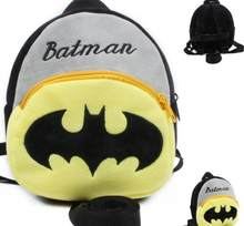 Baby cartoon school bags Batman plush backpacks kindergarten baby mini bag cute Bat Man schoolbag for kids boys gift(China)