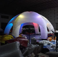 8 м открытый и закрытый надувные палатки со светодиодной подсветкой красочные замечательно для партии игрушка палатка