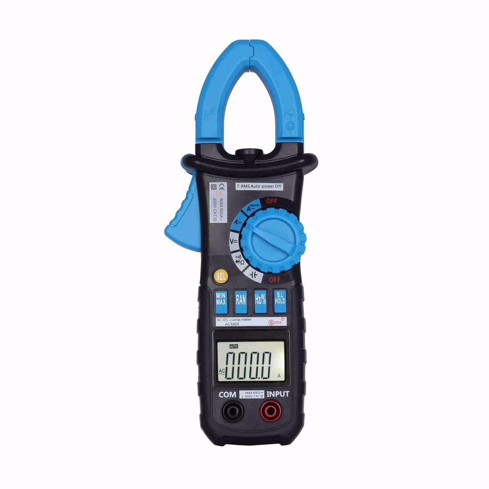 BSIDE ACM04 Digital Clamp Meter True RMS LCD Multimeter AC DC Voltmeter Ammeter Ohm Herz. Duty Cycle Multi Tester MS2108 new lcd digital lcd frequency counter meter herz tester cymometer 10hz 199 9hz blue backlight