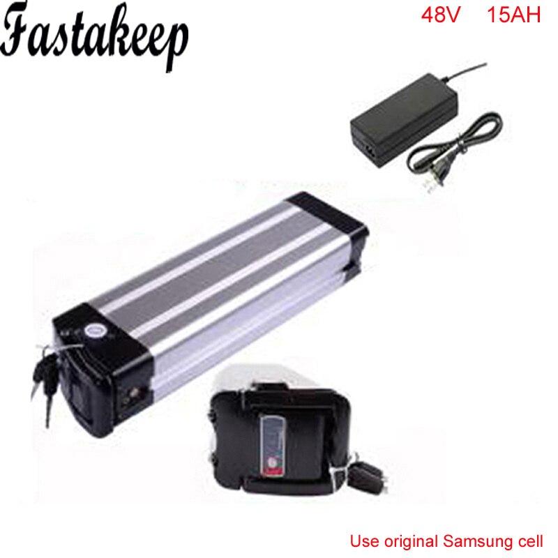 Batterie de vélo électrique 48V 15AH batterie au lithium 48V 1000w batterie de vélo boîtier en aluminium étui pour samsung cell