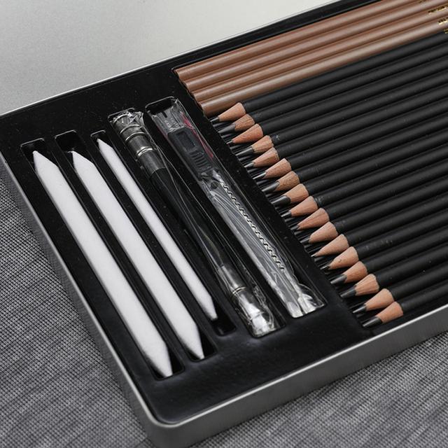 Soft Safe Non-Toxic HB Standard Pencils 25 pcs Set