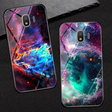 glass phone case for Samsung galaxia J2 Pro 2018 painted protective back cover cases 5.0 Samsung Galaxy J2 pro 2018 J250F protective glass red line for samsung galaxy j2 2018