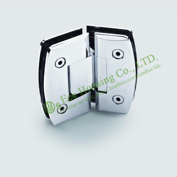 Stainless Steel 135 Degree Shower Door Hinge, Glass To Glass 135 degree Bathroom Glass Door hinge, Mirror finished Glass clamp black titanium 180 degree hinge open 304 stainless steel glass shower door hinges for home bathroom furniture hardware hm156