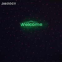 Creative lawn starry red green laser laser light clear bar coffee shop fashion fluorescent welcome light