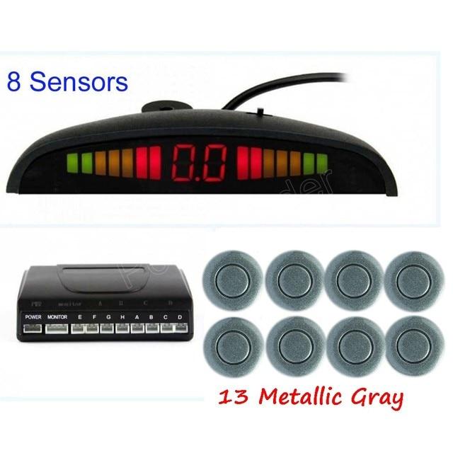 Car Parking Sensor 8 Sensors Buzzer Alert Backup Radar Detector Reverse 44 Colors to choose LED display monitor hot sale