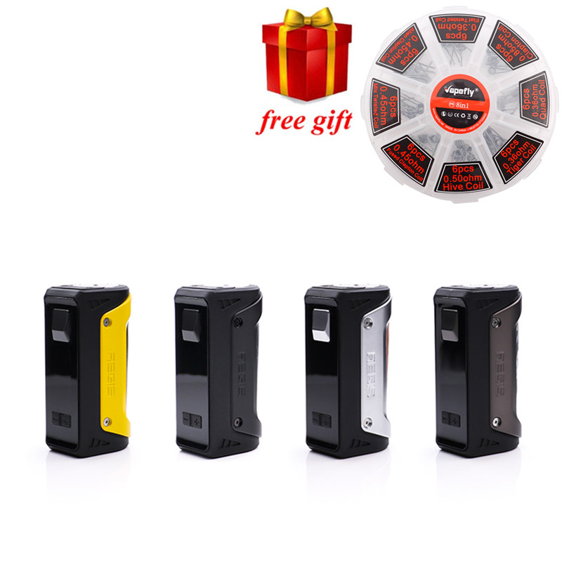 Regalo libero!!! Geekvape EGIDA 100 W TC Box Mod scatola impermeabile antiurto e antipolvere 100 w vape mod fit 18650/26650/20700 batteria