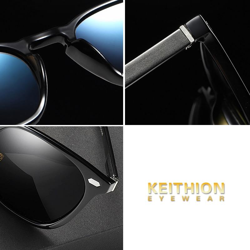 KEITHION Brand Design Classic Polarized Sunglasses Men Women Driving Square Frame Aluminium Magnesium Legs Sun Glasses UV400 in Women 39 s Sunglasses from Apparel Accessories
