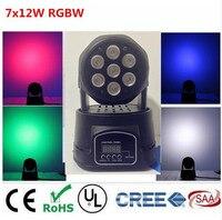 America CREE LED Led Wash Mini Moving Head Light 7x12w Rgbw 4in1 Leds Advanced DMX 9