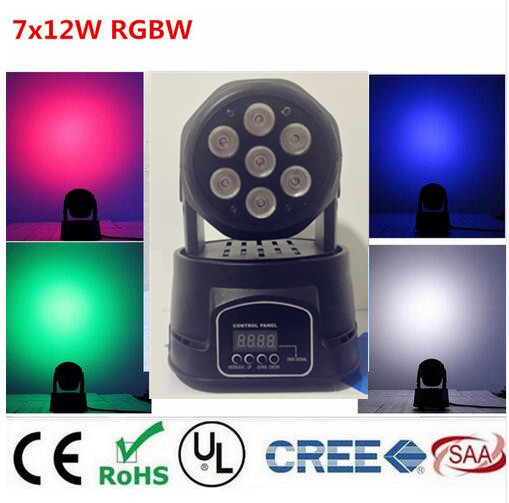 America CREE LED led wash mini moving head light 7x12w rgbw 4in1 leds advanced DMX 9/14 channels dj band lights цена