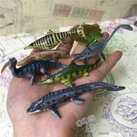 small PVC figure Dinosaurs Dragon Fish Dragon Prehistoric Ancient Animals 7pcs/set toy model ,1998,rare