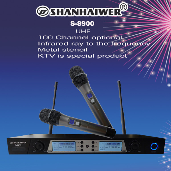 все цены на UHF double-channel metal material handheld professional ktv wireless microphone LCD IR paring 200CH frequency optional megaphone онлайн
