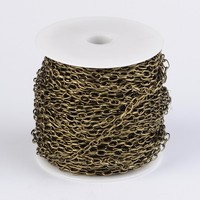 100m/roll Iron Cable Chains With Spool DIY Jewelry Accessories Making Necklace Bracelet handicrafts Supplies Wholesale