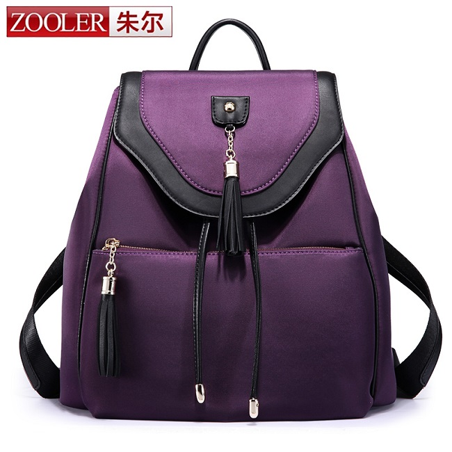 ZOOLER brand genuine leather double shoulder bags for lady stylish cowhide women bag large capacity hot bolsa feminina#6968 zooler genuine leather backpacks 2016 new real leather backpack for men famous brand china hot large capacity hot 65055