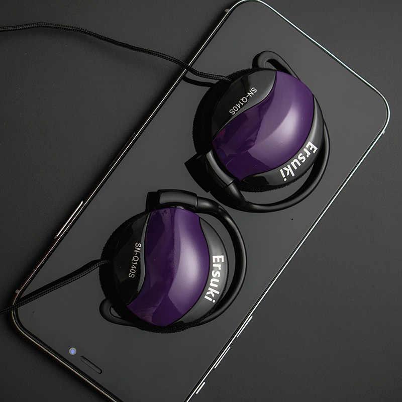 Ersuki Q140s auriculares 3,5mm auriculares gancho para el auricular del teléfono móvil del ordenador del reproductor de Mp3 venta al por mayor