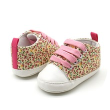 NEW Toddler Kids Casual Lace-Up Sneaker Soft Soled Baby Crib Shoes First Walkers 0-18M