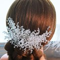 TOP Full Crystal Hair Comb 100% Handmade High Quality Headbands For Women Wedding Bridal Flower Hairpin Hair Accessories SG420