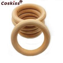 20 pçs de madeira anel dentição mordedor do bebê 25-98mm diy materiais de enfermagem acessórios colar que faz minúsculo anel de haste