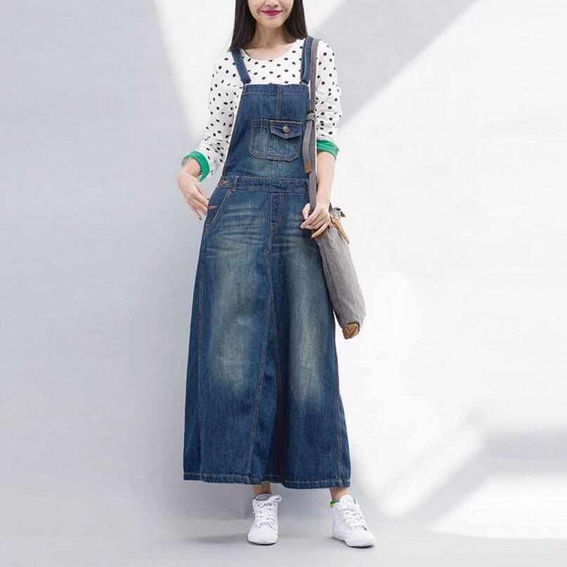 D'été La light Bohème Sangle Denim Blue Taille Maxi W022 A Bib Longue Mode Jeans 2018 Spaghetti ligne Robe Femmes Plus Blue Vintage Nouvelle Deep mnv8ON0w