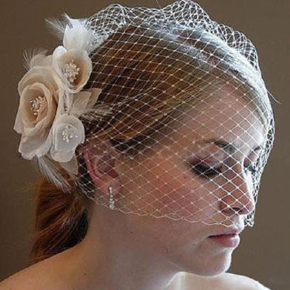 New Lace Elegant Women Fascinator Bride Wedding Hat Bridal Flower Headband Headpiece Wedding Accessories Decoration