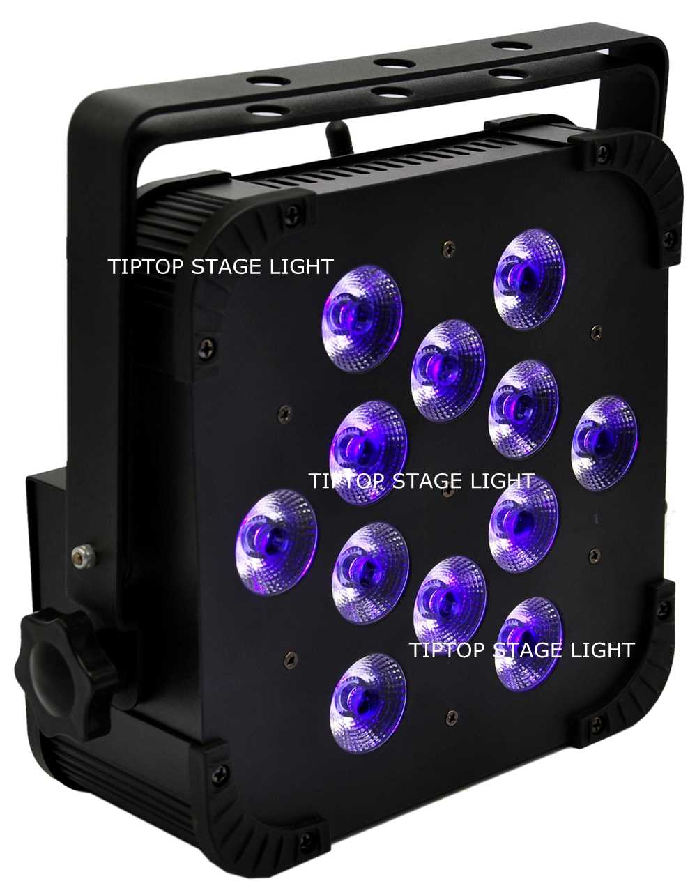 قوانغتشو TIPTOP الإضاءة اللاسلكية 18W 12 RGBWA UV LED الاسمية 64 LED ضوء المرحلة 2.4G مزدوجة المشابك DJ نادي 10IN1 Flightcase حزمة