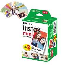 Fujifilm Instax Mini Film biała krawędź Instax Mini 9 papier fotograficzny 20 arkuszy opakowanie dla Instax Mini 11 8 9 7s 70 kamera udostępnij SP 1/2