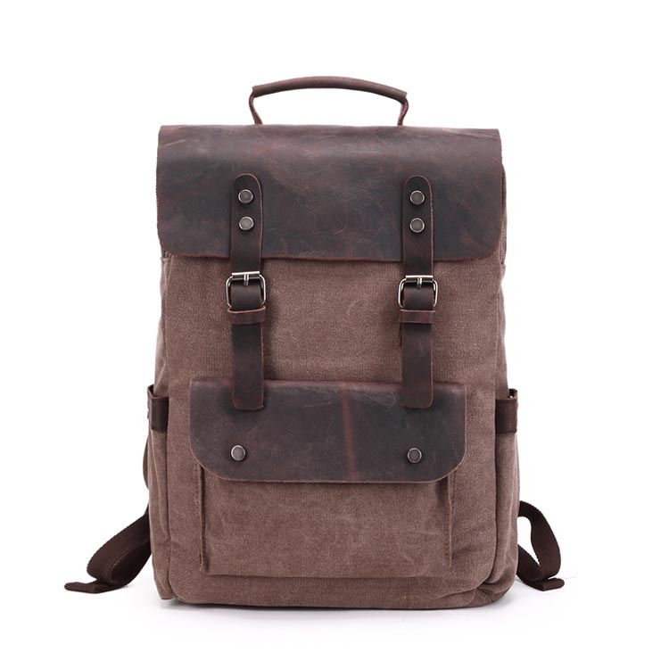 2018 fashion men's backpack vintage canvas backpack preppy style school bag for boys laptop backpack large capacity travel bag new fashion simple style students canvas shoulder bag large capacity backpack change pouch four sets for girls boys
