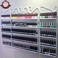 Hierro esmalte de uñas en la pared estantería de pared mueble tienda de cosméticos manicura