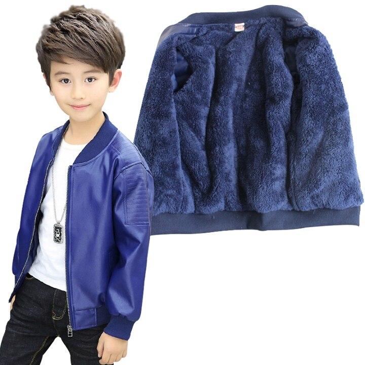 Adolescente 2-14yrs bebê meninos jaqueta de couro