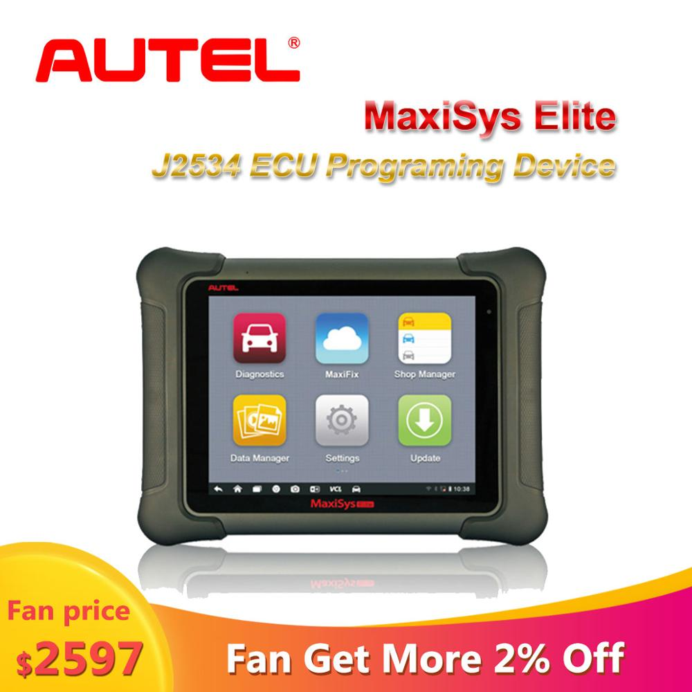 AUTEL MaxiSys Elite Car Diagnosis J2534 ECU Programing Tool Scania Diagnostic Auto Faster Than MS908p 908 Pro Free Update 1 Year