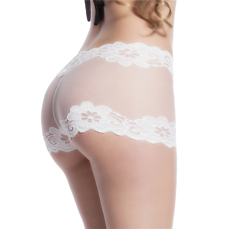 DYS292 Women's   Panties   White Lace Mesh   Panty   Sexy Lace Underwear Boyshort 3XL Briefs For Girls Underwear Lingerie   Panties
