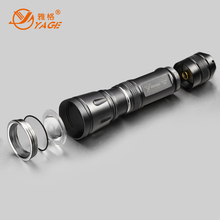 YAGE Zoomable Flashlight Telescopic Led Flashlight  Mini Led Torch Light lanterna lampe torche linterna led for 18650 YG-318C