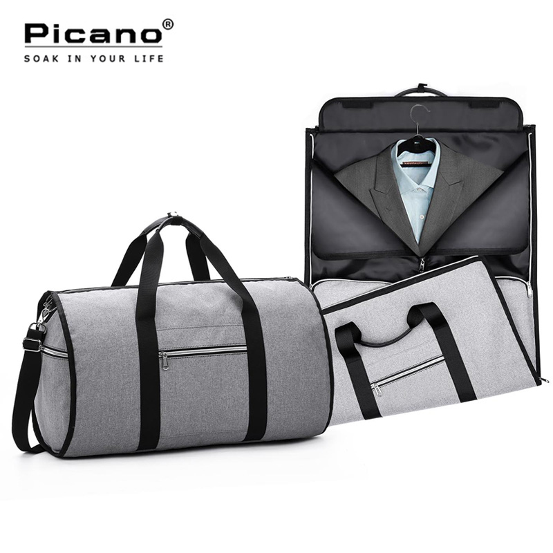 Travel Garment Bag 2 In 1 Men Weekend Bag Suitcase Suit Business Organizer Foldable Duffle Bag